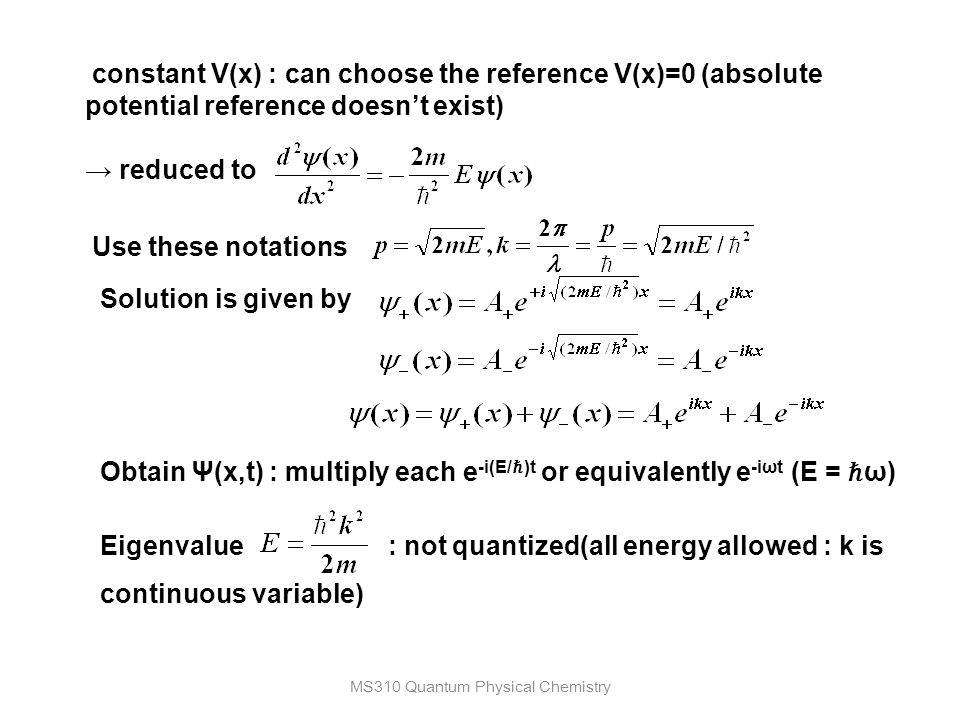 Ch 4  Using Quantum Mechanics on Simple Systems - ppt video