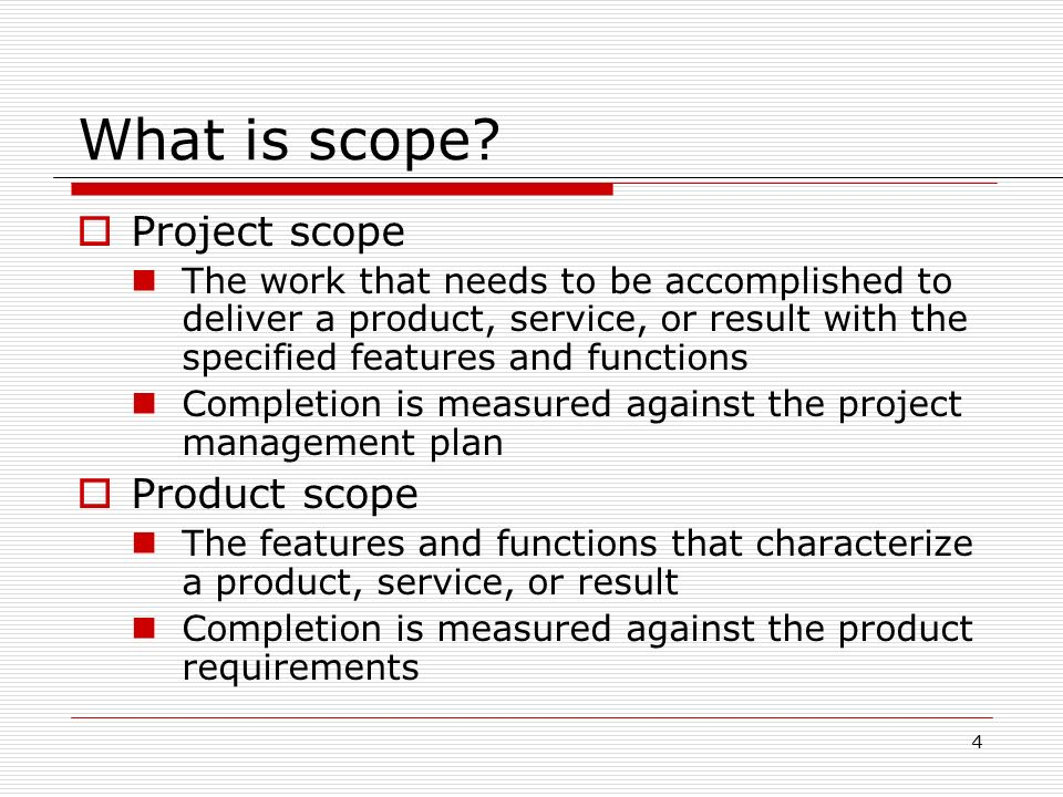 project scope for wedding project Project scope management follows a five step process collect requirements, define scope, create wbs, verify scope, and control scope collect requirements - this first step is the process by which we define and document the requirements needed to meet all project objectives.