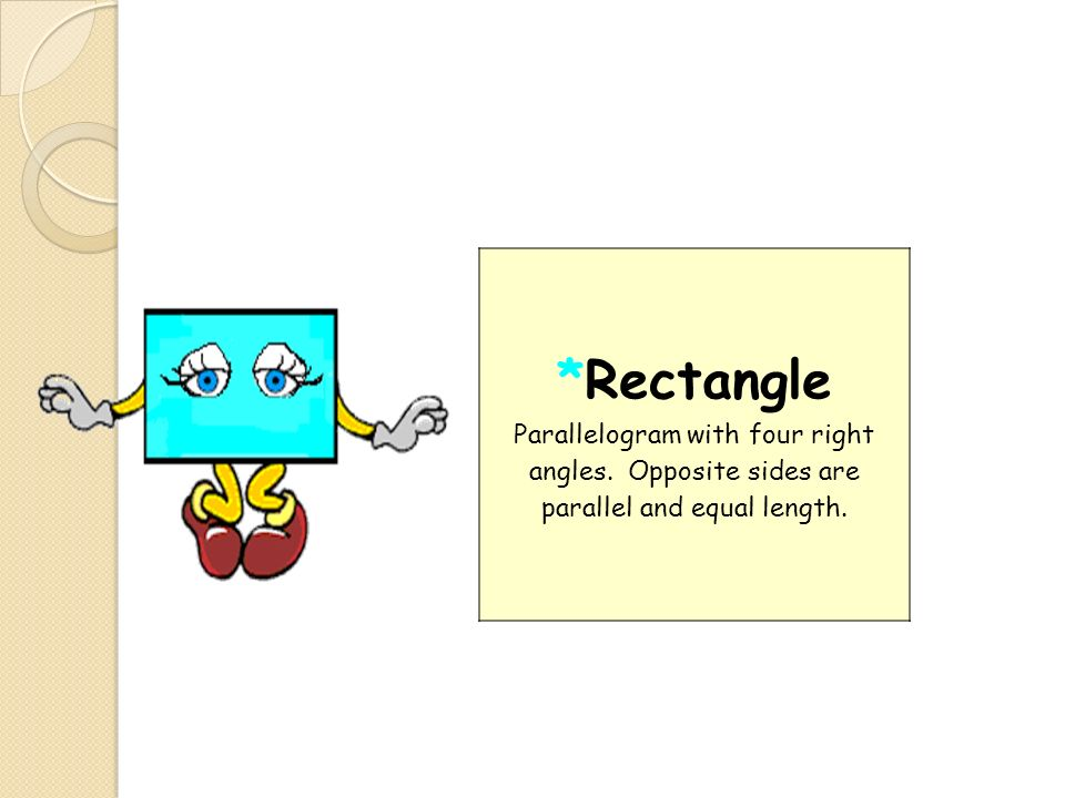 Rectangle Parallelogram with four right angles