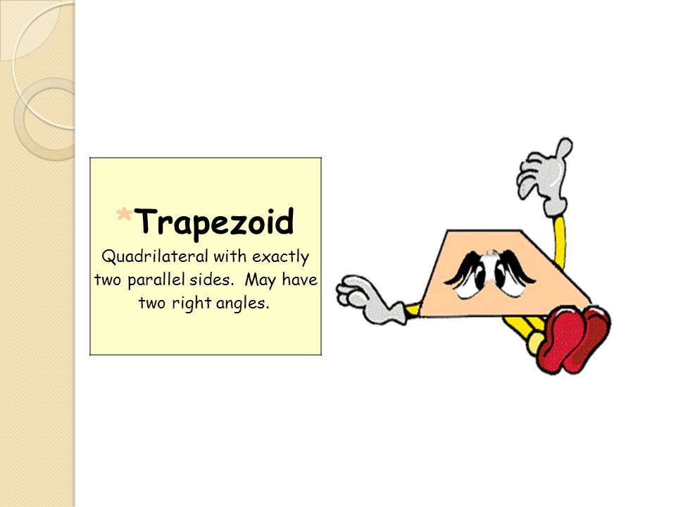 Trapezoid Quadrilateral with exactly two parallel sides