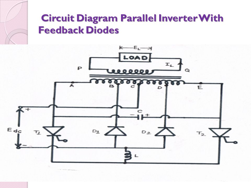 Circuit Diagram Parallel Inverter With Feedback Diodes