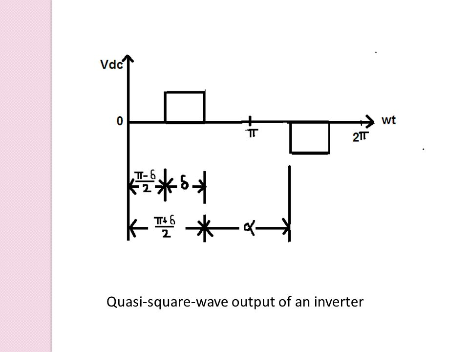 Quasi-square-wave output of an inverter