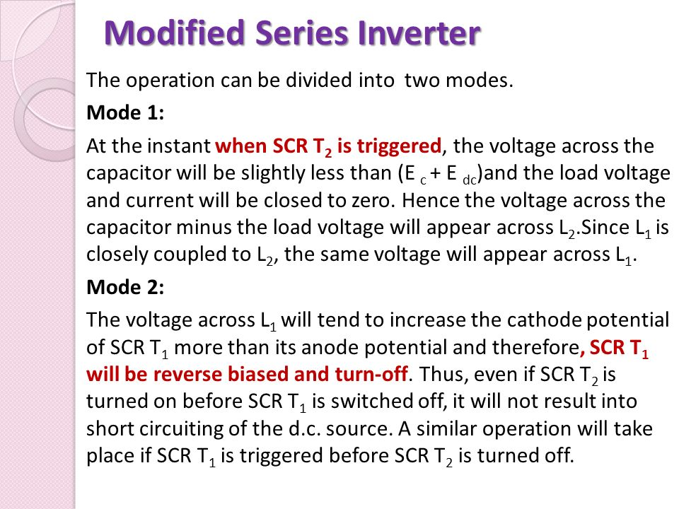 Modified Series Inverter