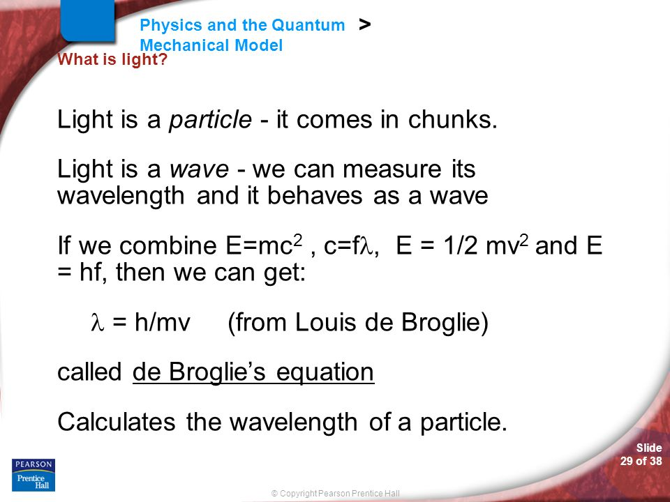 Light is a particle - it comes in chunks.