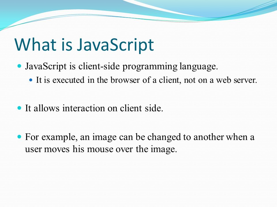 JavaScript Syntax, how to use it in a HTML document - ppt