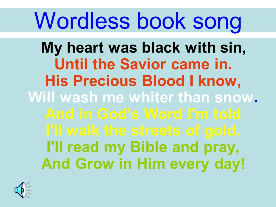 image relating to Wordless Book Gospel Printable called Wordless e-book presentation