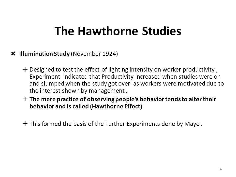 hawthorne effect psychology