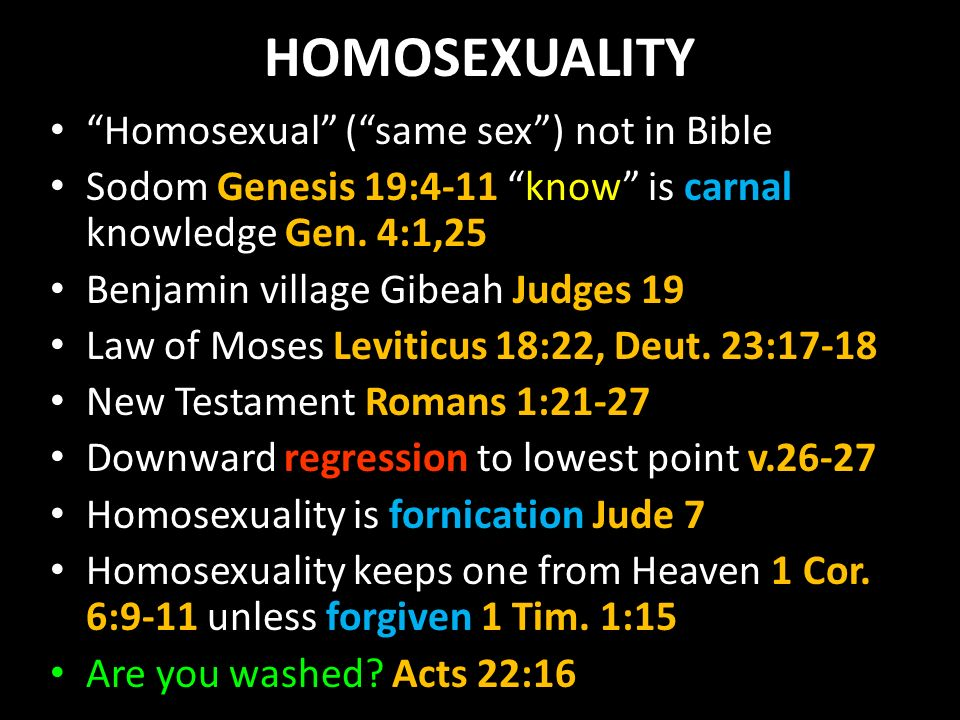 Romans 1 against homosexuality