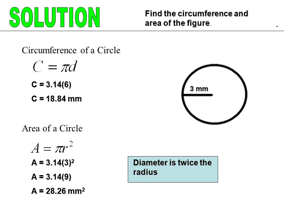 Circumference And Area Ppt Video Online Download