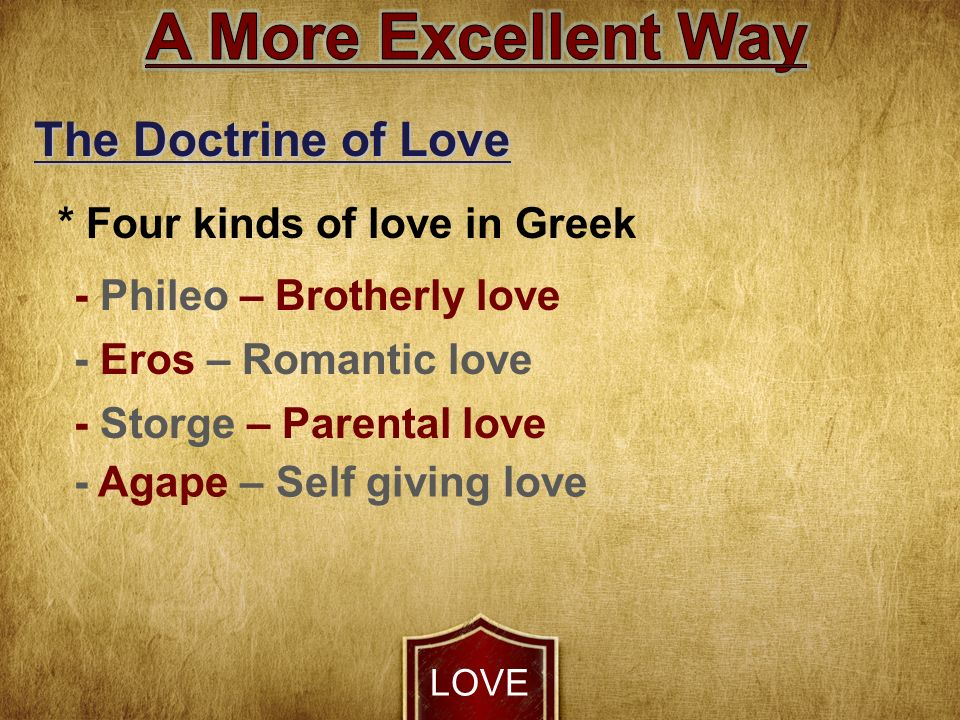 what are the 4 kinds of love