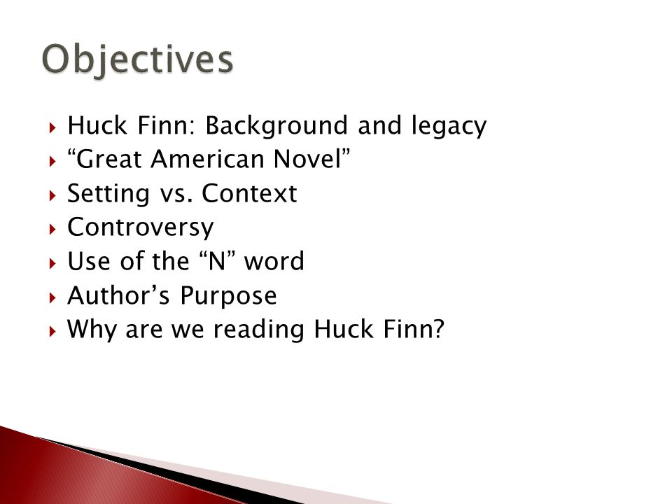 what is the purpose of huckleberry finn