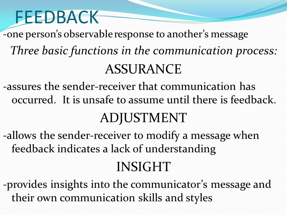 receiver in communication process