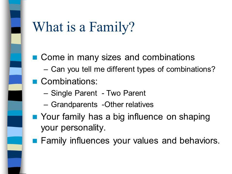 how family influences you