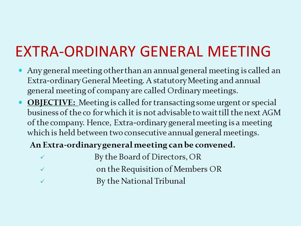 statutory meeting purpose