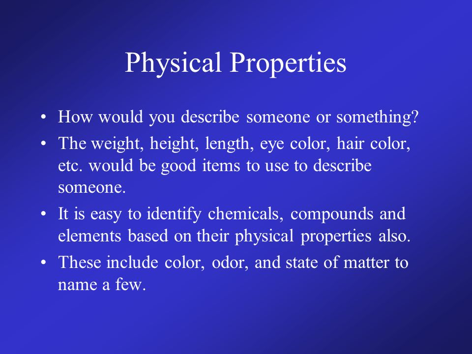 The Point Of Today Distinguish Between Physical And Chemical