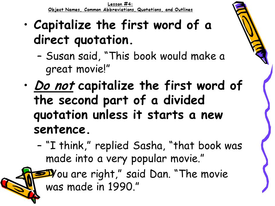 Capitalize First Letter Of Quotation