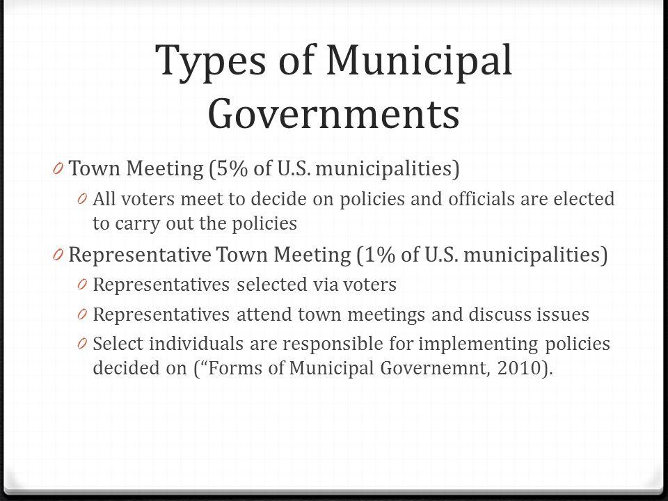 types of municipalities