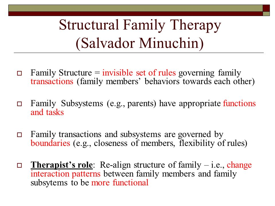structural family therapy: a case presentation elaine shpungin, ph