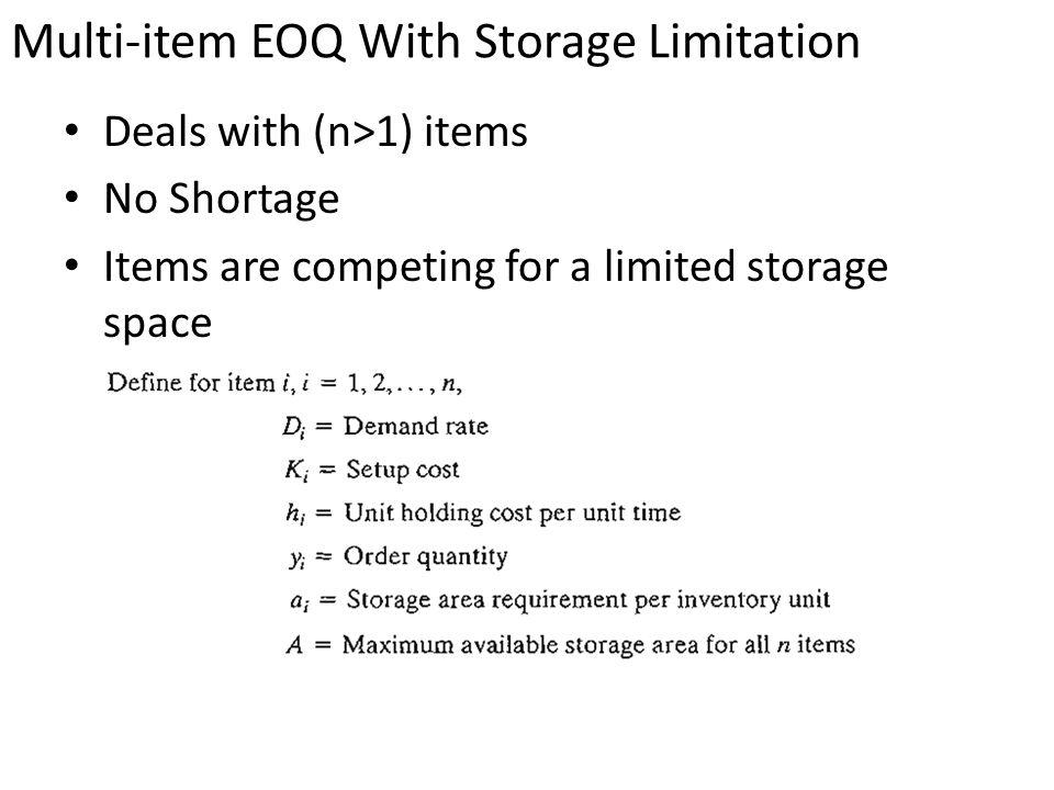 limitation of eoq model