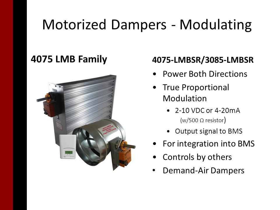 Motorized Dampers  - ppt video online download