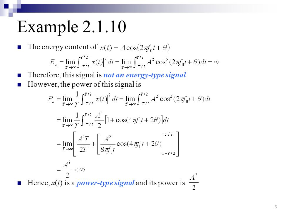 Solved: power and energy signal examples: ex determine the.