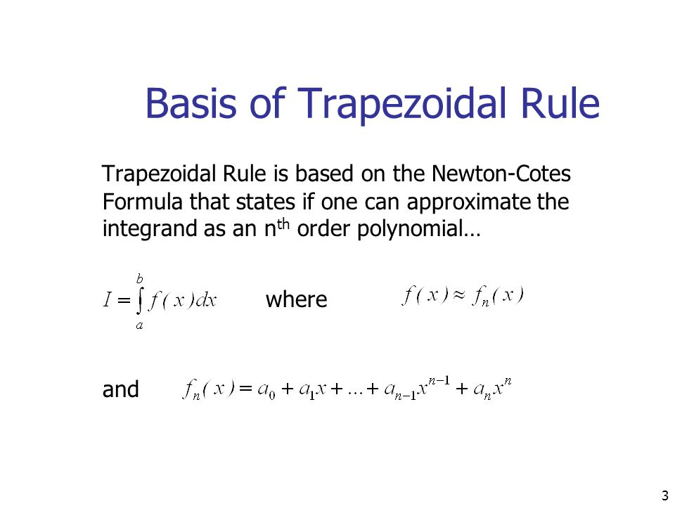 Trapezoidal rule of integration ppt video online download.