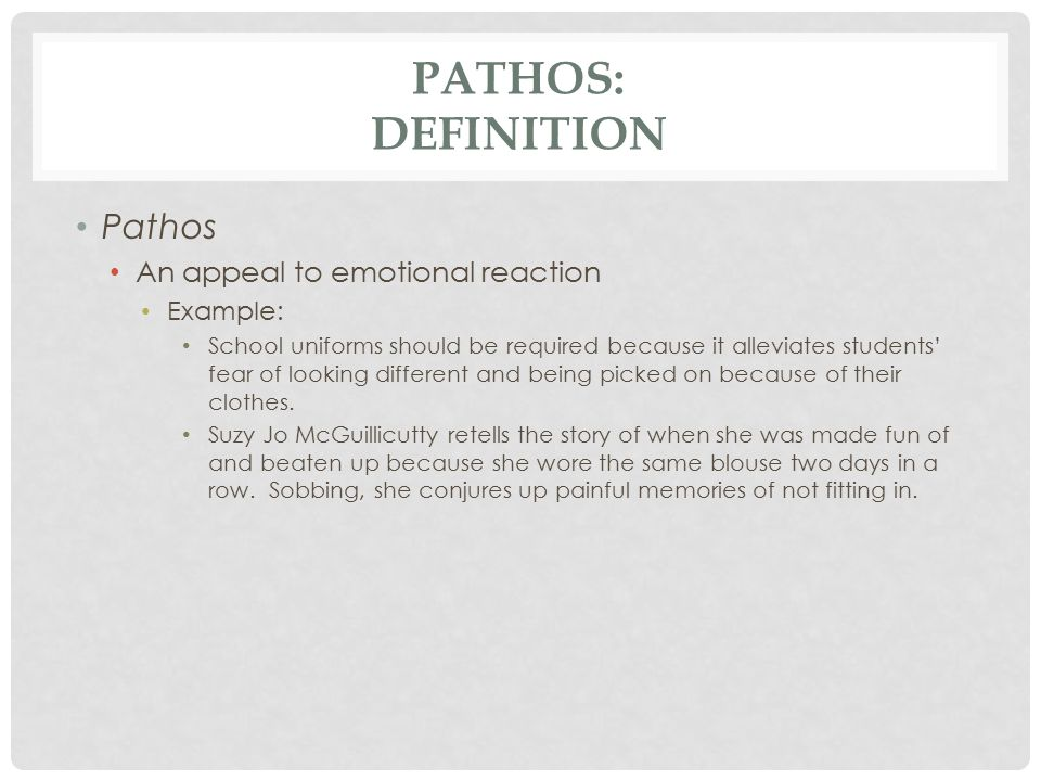 what does pathos mean