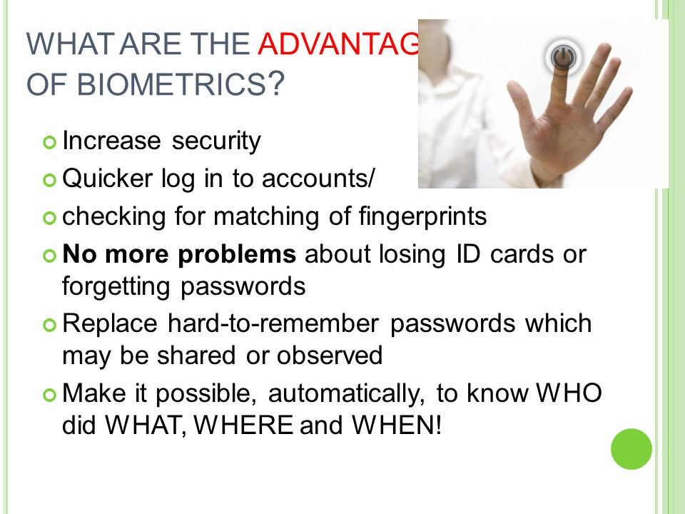 Biometrics  - ppt video online download
