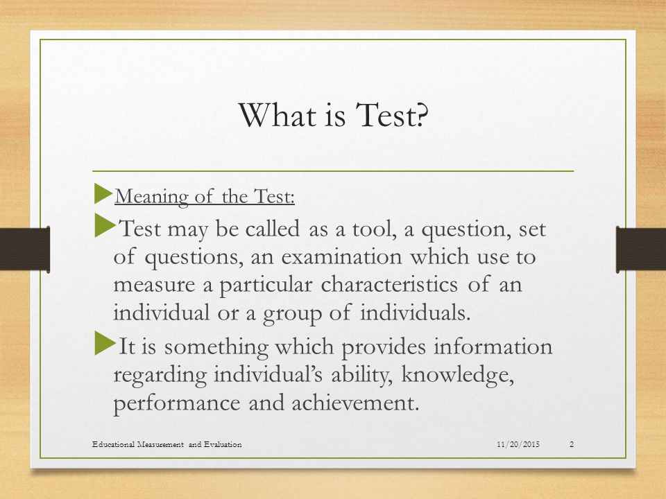 difference between test measurement and evaluation in education