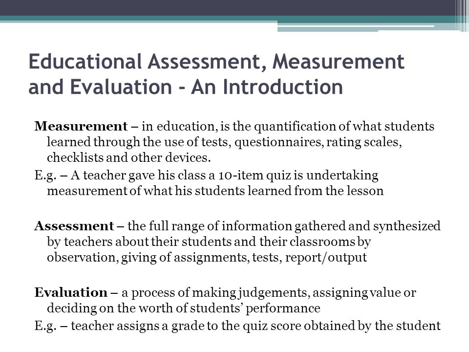 what is measurement in assessment