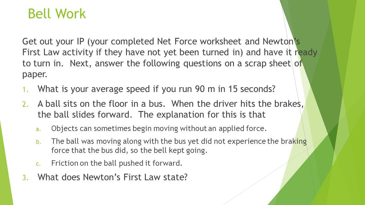 Newton S Second Law Of Motion Force And Acceleration Ppt Video