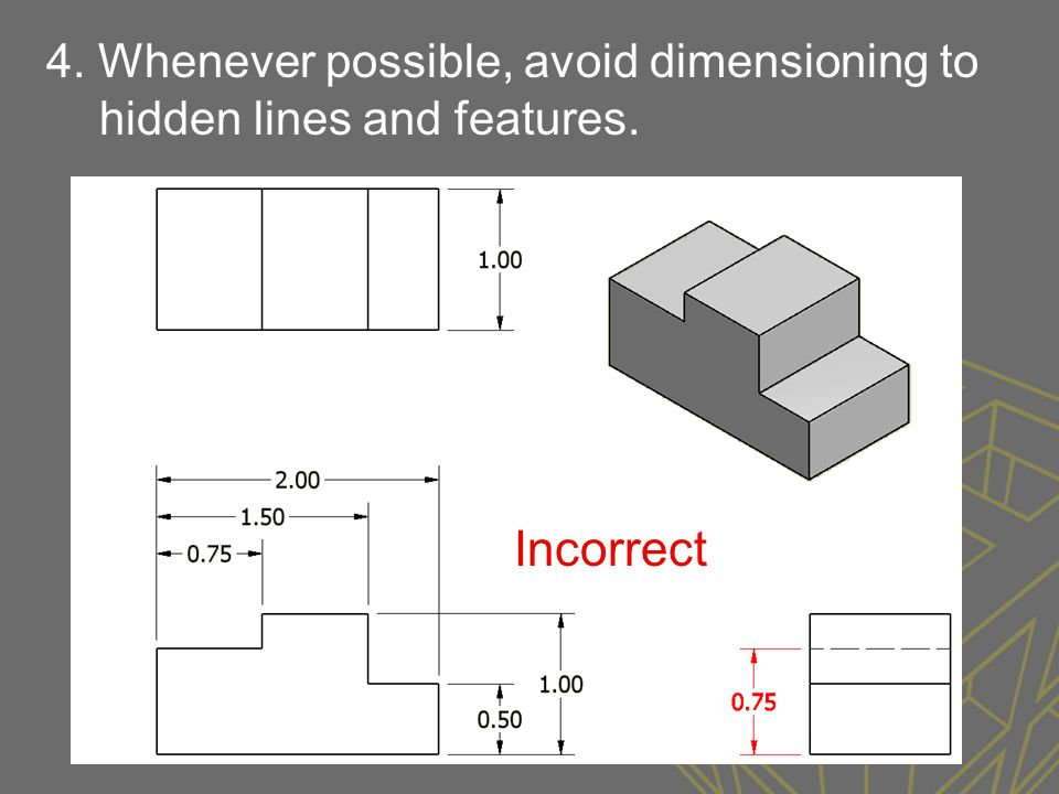 Dimensioning Sizing Of Drawings In Drafting Has Standards And