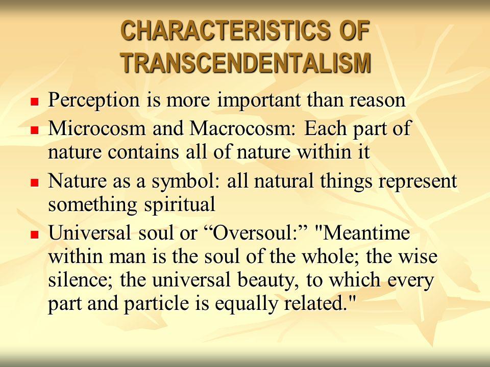 transcendentalism characteristics