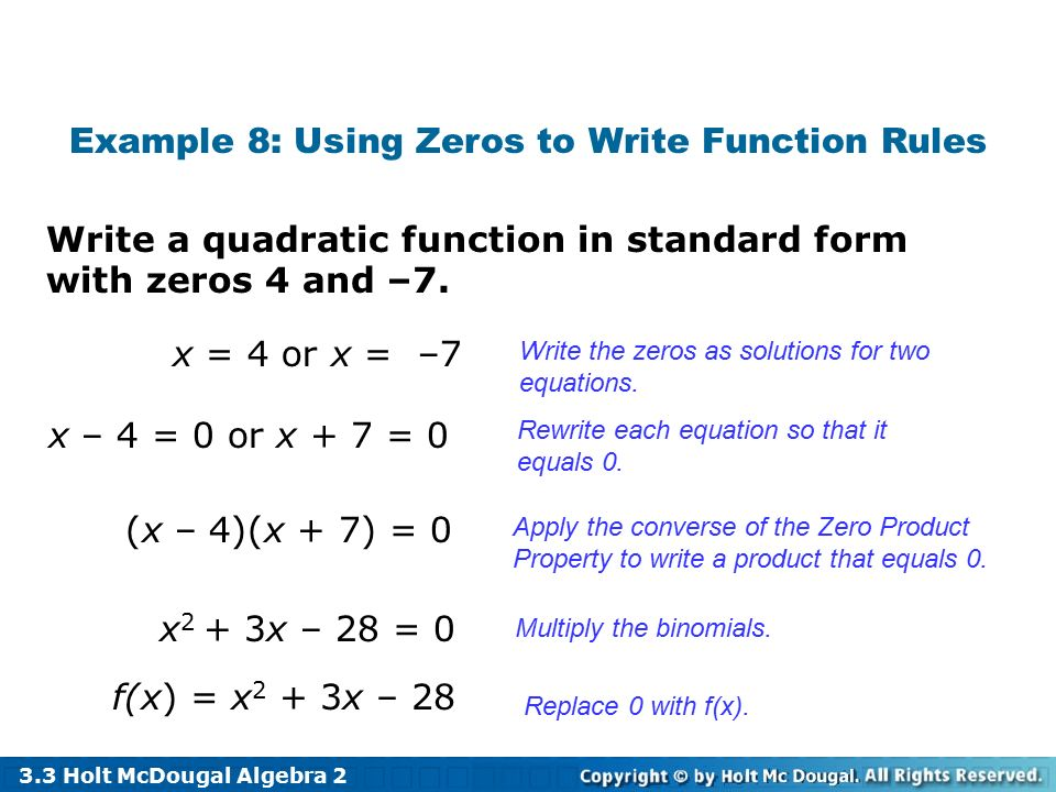 33 Solve Quadratic Equations By Graphing By Factoring Ppt Video