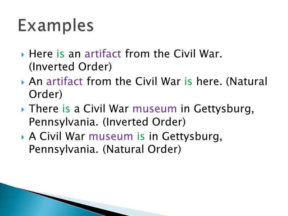 natural order examples