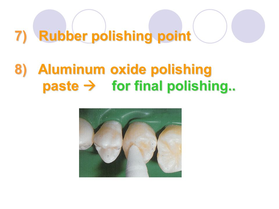 7) Rubber polishing point