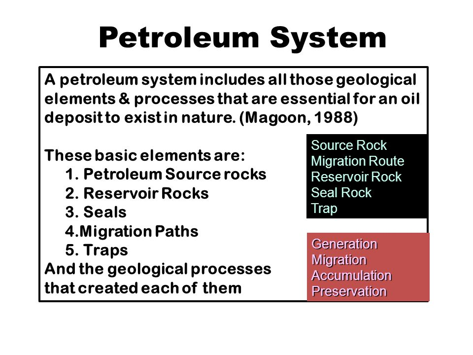The Petroleum System from Source to Trap
