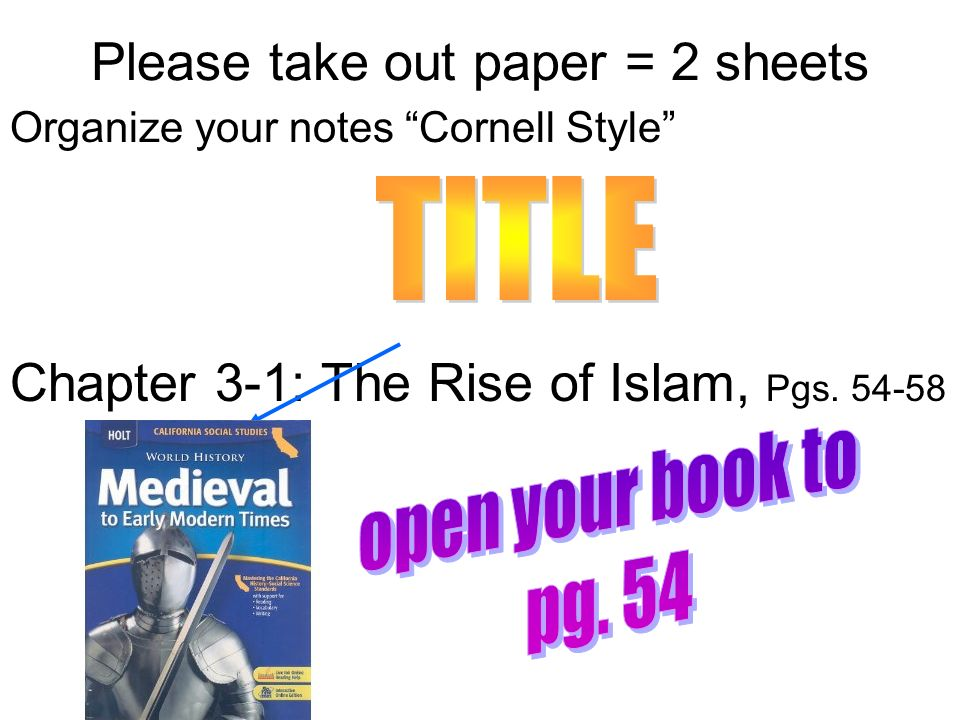 Chapter 3 The Rise Of Islam Ppt Video Online Download