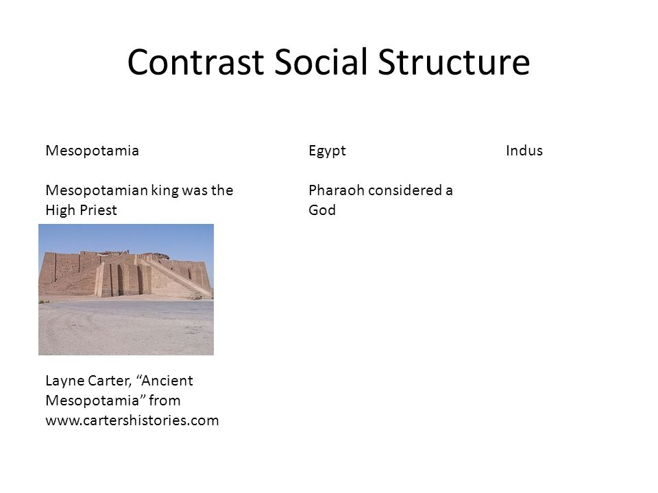 compare and contrast mesopotamia and egypt
