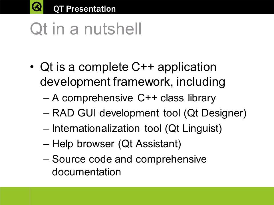 Cross-platform C++ development using Qt® - ppt video online