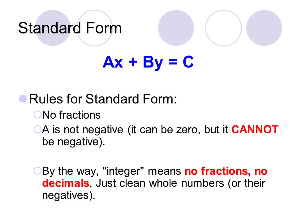 64 Standard Form Ppt Video Online Download