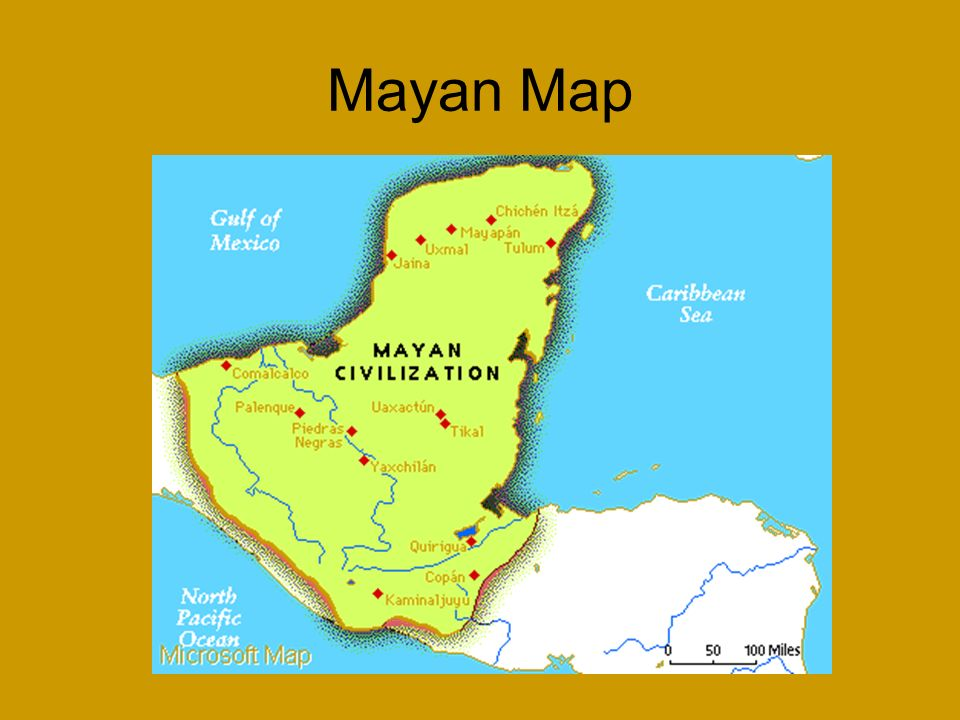 Mayan Map Ancient Cultures Of Central And South America The Maya