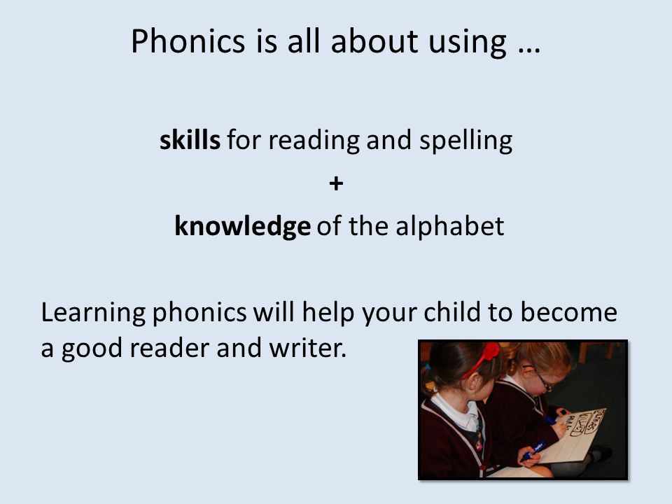 Phonics is all about using …