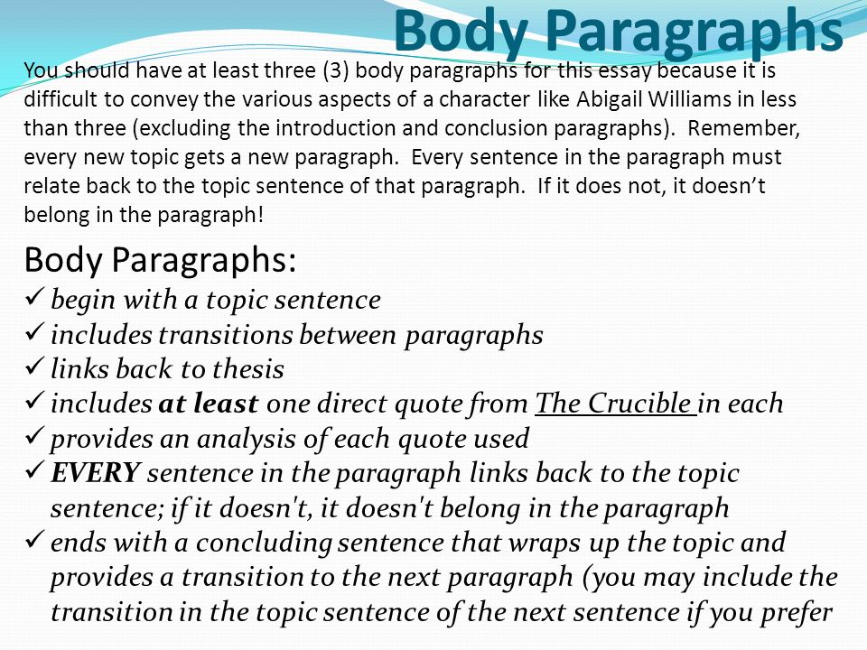 Research Paper Essay  Body Paragraphs  Short English Essays For Students also Annotated Bibliography Online Source Character Analysis Write A Character Analysis Of Abigail Williams  Please Do My Assignment For Me