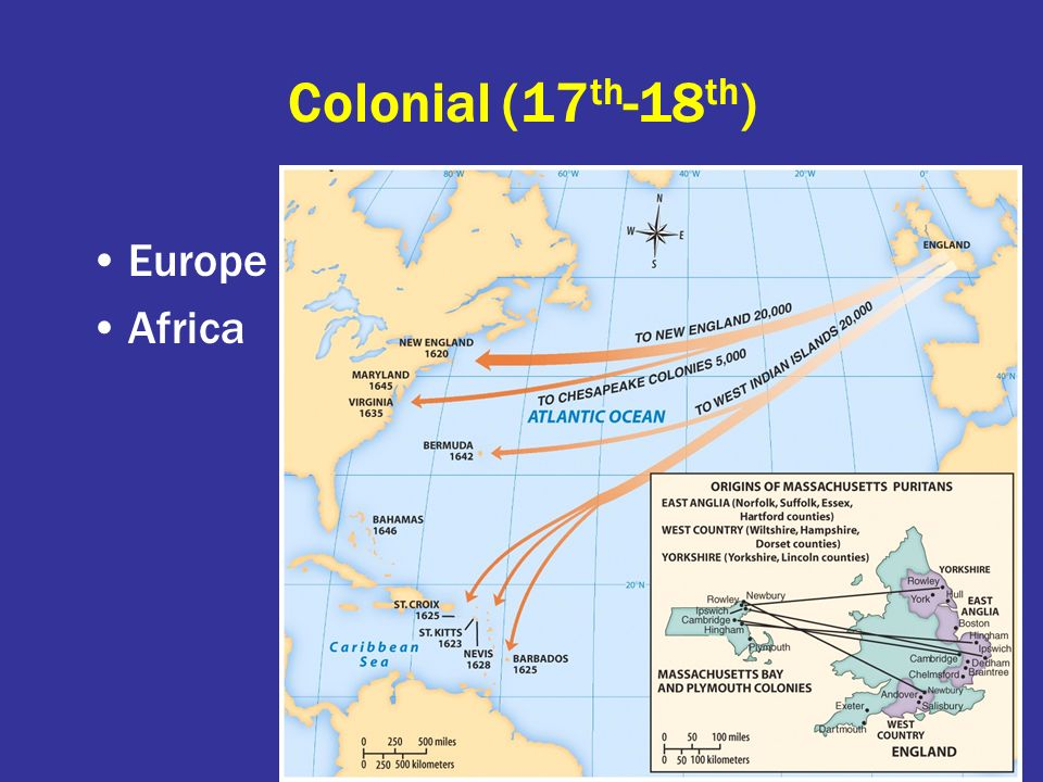Colonial (17th-18th) Europe Africa