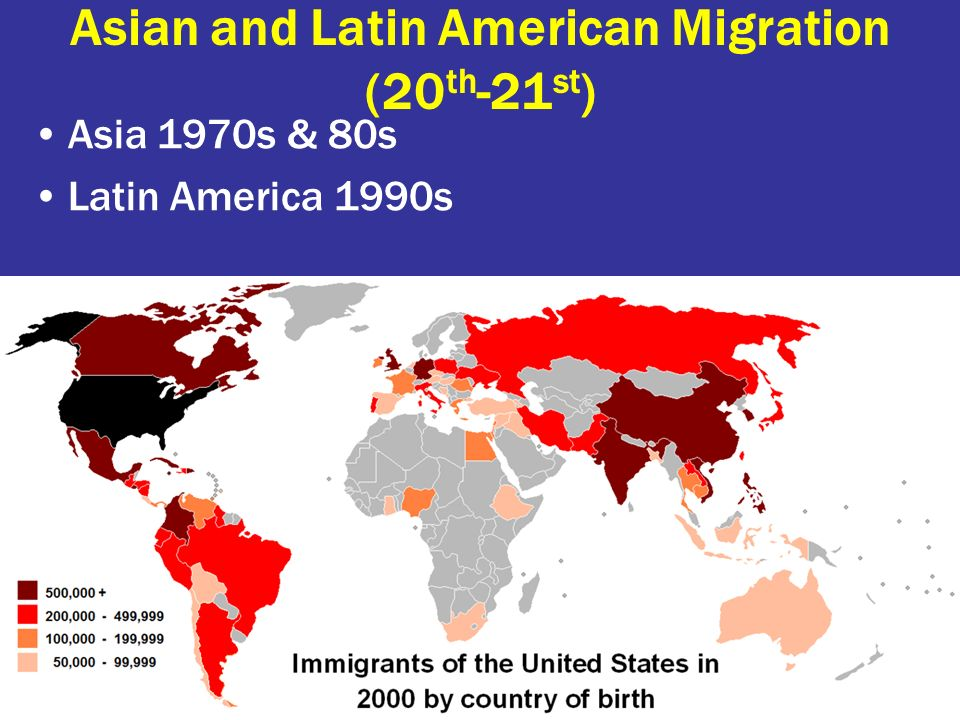 Asian and Latin American Migration (20th-21st)