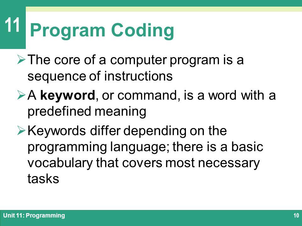 Unit 11 Programming  - ppt video online download