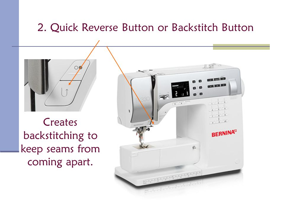 Parts of the Sewing Machine ppt video online download Simple Reverse Button On Sewing Machine