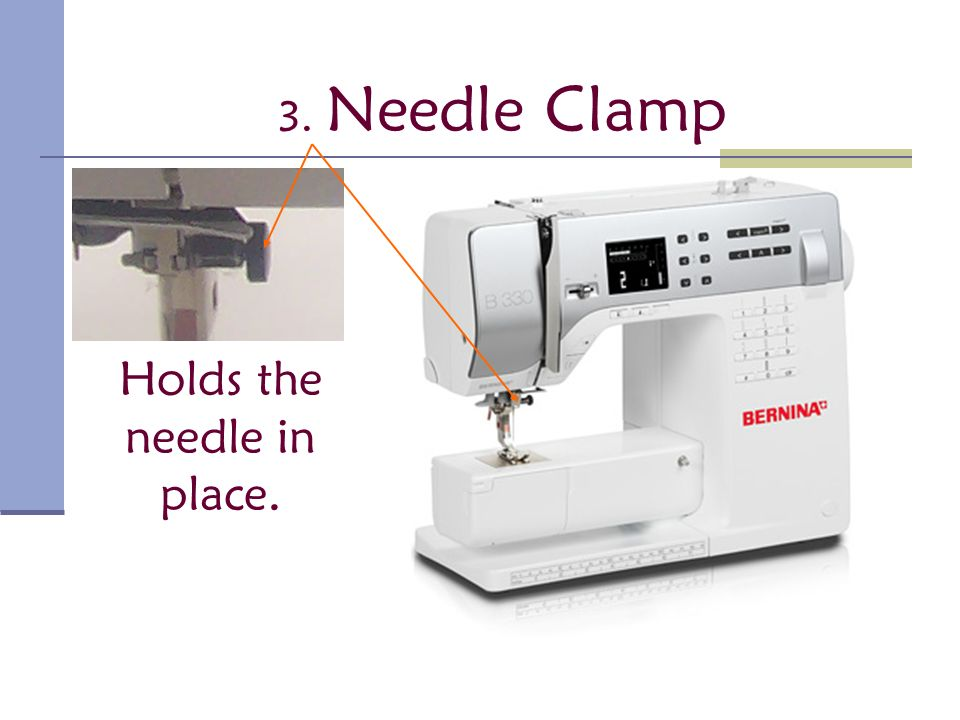 Parts Of The Sewing Machine Ppt Video Online Download Amazing Needle Clamp Sewing Machine Definition
