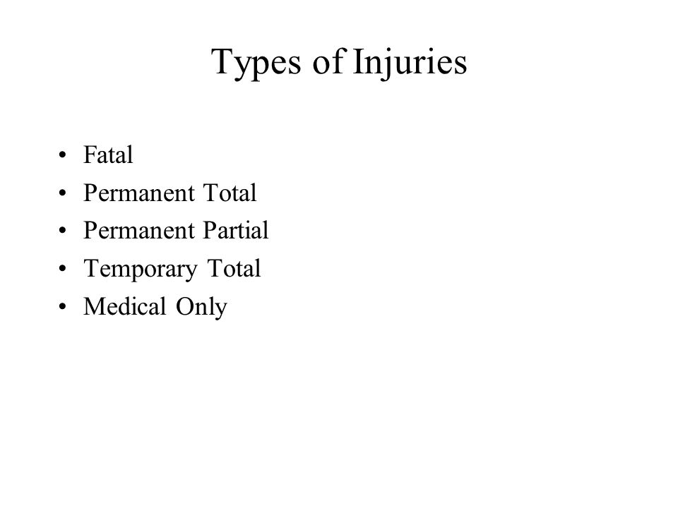 Today's Agenda Types of Injuries Illinois WC Benefits - ppt
